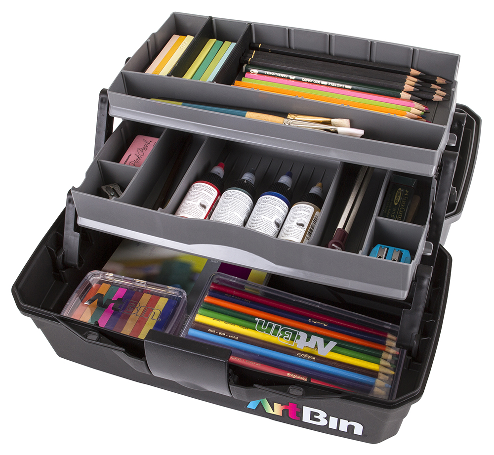 Charmant Two Tray Art Supply Box