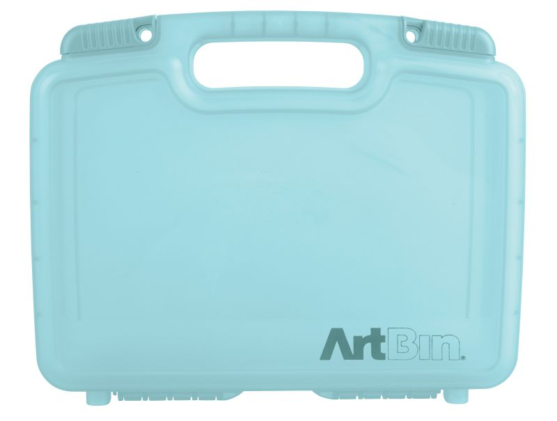 "12 inch Quick View Carrying Case-Deep Base - Aqua, 6977AA quick view case, quickview, carry case, box, satchel,deep base, 12"", 12 inch, aqua mist, blue, 6977AA"