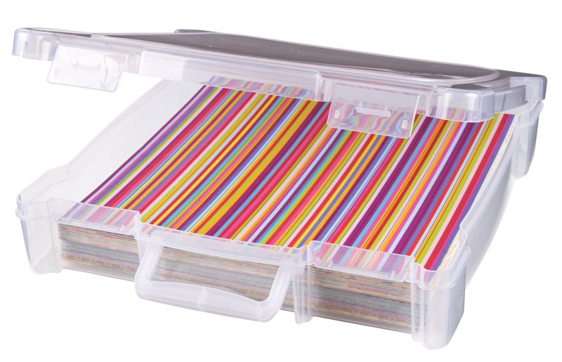 ... 12u0026quot; x 12u0026quot; Storage Box w/ Handle ...  sc 1 st  ArtBin & 12