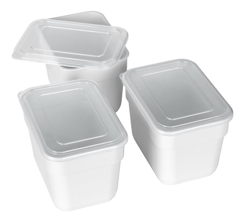 3 Pack Bins with Lids Empty