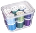 3 pack Bins with Lids (Clear), 6969AG with Threads Inside the Container