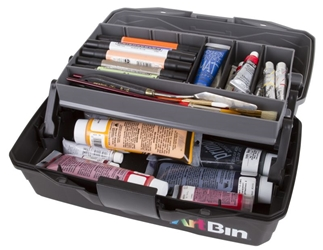 ArtBin 1 Tray Art Supply Box, 6891AG artist box, art supply box, tackle, cantaliever, painting, drawing, brushes, art student, 6891AG