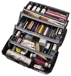ArtBin Three Tray Art Supply Box, 6893AG artist box, art supply box, artist, art student, painting, drawing, paint, pencils, student, tackle, cantaleiver, 6893AG, new, back to school