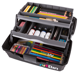 ArtBin Two Tray Art Supply Box, 6892AG art supply box, artist box, student art box ,painting, paints, pencils, drawing, back to school, tackle box, 6892AG