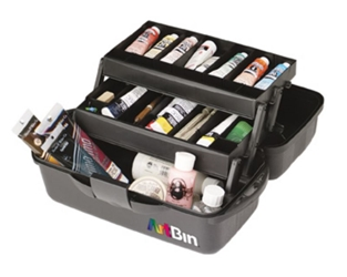 Essentials™ 2 Tray Box, 8627AB artist supply box, art supply, student, essentials 2 tray, two tray, tackle box, made in the USA, 8627AB