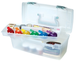 Essentials™ Lift-Out Tray - Aqua latches & handle, 6937AG essentials lift out tray box, art supply box, container, lift out tray, artbin, plastic, aqua, value, blue, 6937AG,  kids art and craft storage, kids art box, children, back to school