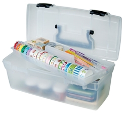 Essentials - Lift-Out Tray Box, 83805 tray box, art box, craft box, lift out tray box, lift out tray, translucent storage box, essentials lift out tray box, art supply box, container, artbin, plastic, aqua, value, 83805, kids art and craft supply box, children, back to school, student