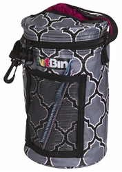 Mini Yarn Drum, Knitting And Crochet Tote Bag - Black and Gray, 6824AG