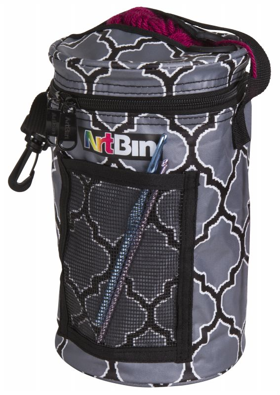 sc 1 st  ArtBin & Mini Yarn Drum Knitting And Crochet Tote Bag - Black and Gray 6824AG