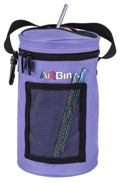 Mini Yarn Drum, Knitting And Crochet Tote Bag -Periwinkle, 6832AG 6832AG, artbin, mini yarn drum, yarn drum, knitting, crochet, tote bag, yarn bag, yarn storage, small, yarndrum, periwinkle, blue, purple
