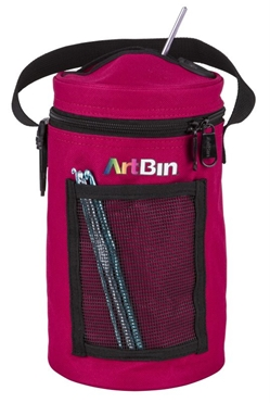 Mini Yarn Drum, Knitting And Crochet Tote Bag - Raspberry, 6831AG 6831AG, artbin, mini yarn drum, yarn drum, knitting, crochet, tote bag, yarn bag, yarn storage, small, yarndrum, raspberry, dark pink, pink