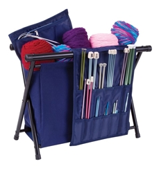 Needle Arts Caddy - Navy, 6933AM needle arts caddy, yarn storage, knitting, crochet, blue, navy, yarn holder, storage,artbin, 6933AM