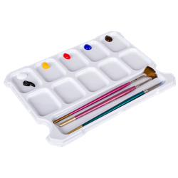 Paint Storage Tray (2 Pack), 6833AG Artbin, art bin, storage, craft box, container, case organization, craft storage, art storage,plastic, sidekick, side kick, sidekick cube, paint pallet, 2 pack, pallett, oil paint, watercolor, acrylic, pallet,pallette,6833AG