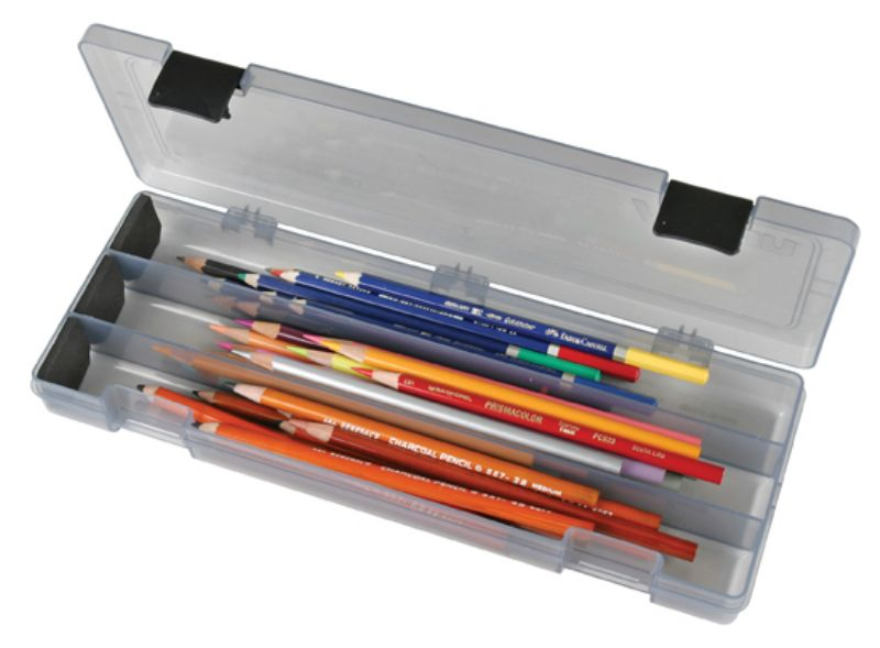 Pencil Utility Box-Charcoal, 6900AB pencil utility box, pencil, pens, markers, cutting tools, xacto, gray, charcoal, 6900AB, pencil pouch, back to school