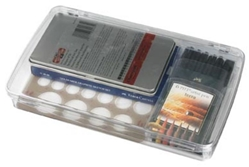 Prism 1-Compartment Box, 1100AB clear boxes, small supply storage, styrene boxes, divided boxes