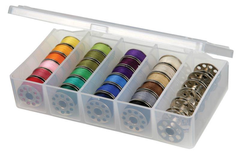 Sew Lutions Bobbin And Supply Box, 8155AB Bobbin Storage, Bobbin Box, Sewing