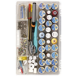 Sew-lutions Sewing Supply Storage System, 7003AB thread box, sewing box, sewing supply box, sewing thread box, sew-lutions sewing supply storage system, solutions, thread storage, spools, notions, sewing, box, 7003AB