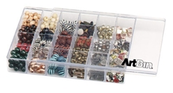 Slide n Store™ 24 Compartment Sliding Lid Box, 8924AB styrene box, clear box, sliding lid box, jewelry storage, bead storage, embellishment storage, slide 'n store, slide and store, 24 compartment, beads, jewelry, storage, cosmetics, box, divided container, prism, 8924AB