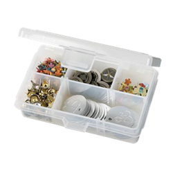Solutions™ Box XS, 1002AB small boxes, translucent, solutions, solutions box, solutions, solutions box, solutions boxes, solutions storage, storage solutions, storage, divided boxes, dividers, 1002, divided, extra small, 1002AB, small, divided, plastic, box, container, removable dividers, acid free, artbin, craft storage,