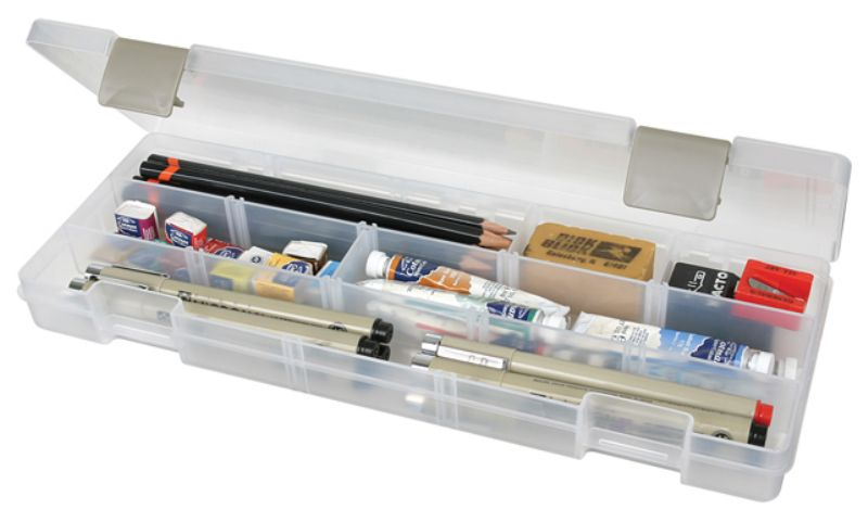 Solutions™ XL (extra long) Box, 3900AB small supply storage, solutions, solutions box, clear boxes, solutions, solutions box, solutions boxes, solutions storage, storage solutions, storage, divided boxes, dividers, 3900, 3900AB, extra long, xl, container, plastic,divided box, compartments, pen box, pencil box, marker box, artbin