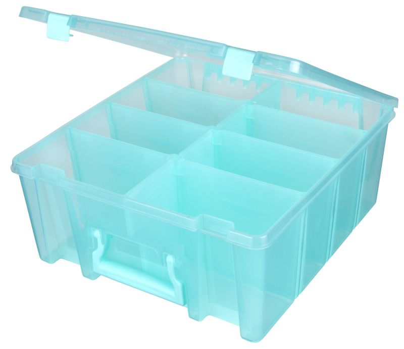 Super Satchel Double Deep with Removable Dividers-Aqua, 6990AA