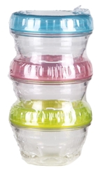 Twisterz Jars, 3 pack with colored lids twisters, twisterz, twisterz jars, 3 pack, three pack, 6940AD