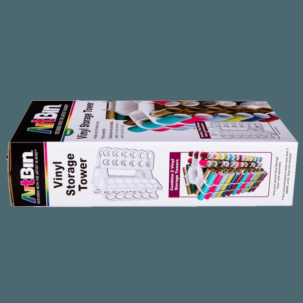 ArtBin 6864XL Storage Tower Stores 36 Vinyl Rolls White