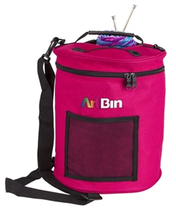 Yarn Drum, Knitting And Crochet Tote Bag - Raspberry, 6805SA 6805SA, artbin, yarn drum, yarn storage, knitting, crochet, yarn bag, storage, tote,  raspberry, dark pink, pink