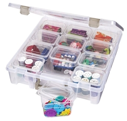 Super Satchel with small bins, Clear, 6965AZ