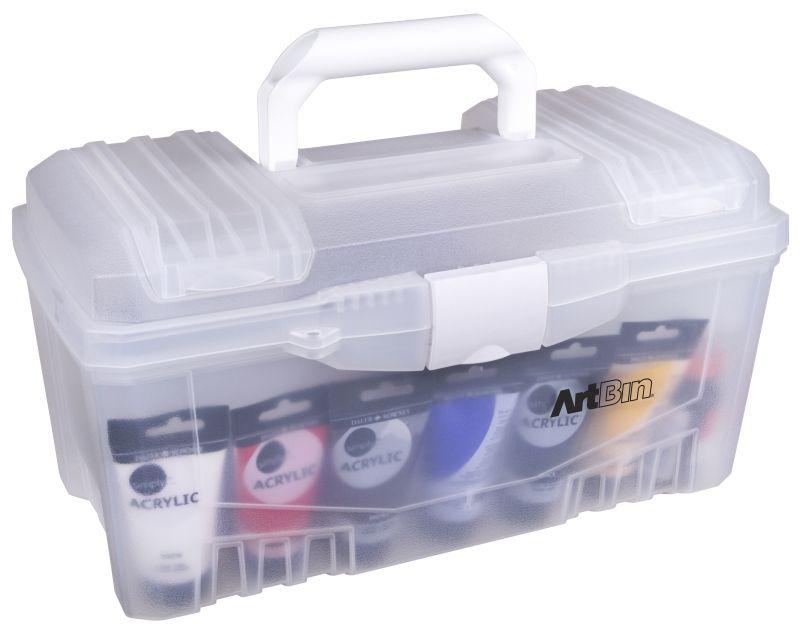 Black 17-Inch ArtBin Twin Top Tool Box