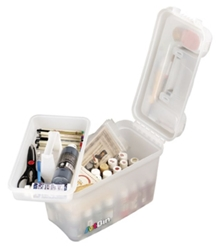 Sidekick, 8408AB sidekick,art box, craft box, lift out tray box, translucent storage, side kick, lift out tray, side latch, art supply box, container, clear, 8408AB, student, best seller, artist, art student, back to scool,