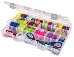 Solutions™ Box Large, 4 Compartment-5004AB Solutions boxes, small supply storage, solutions, clear boxes,solutions, solutions box, solutions boxes, solutions storage, storage solutions, storage, divided boxes, dividers, 5004AB, artbin, large, divided box, container, plastic, adjustable dividers, compartment,washi,