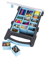 Quick View with Removable Bins, 6873AG quick view with removable bins, quickview, bead, buttons, notions, embellishments, small supplies, comartment box, container, artbin, 6873AG