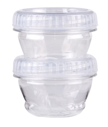 Twisterz Jar, Small/Short, 6940AB twisters, twist, interlocking containers, interlocking, locking, clear, twist off cap, twisterz, twisterz jar, small short, screw on lid, slime jar, 1.4 fl oz., stacking, 6940AB