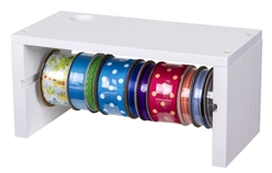 Ribbon Storage Rack, 6826AG artbin, craft , shelf, ribbon, washi, tape, wooden, storage rack, wall mount, hang,white, super satchel,storage, organization, 6824AG, ribbon storage rack, ribbon shelf, washi tape, wood