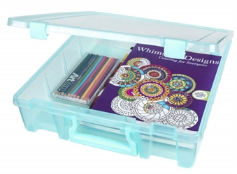 Super Satchel™ 1 Compartment, Aqua, 6955AA Super Satchel standard, one compartment, open core, scrapbooking paper,  box, container, case, artbin, 6955AA, aqua mist, blue, best seller