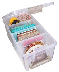 Super Semi Satchel, 6925AB Super satchel, semi satchel, scrapbooking storage, paper crafting storage, organizers, fabric organizers, pre cut fabric organizers, card stock storage, half satchel, Super semi satchel, divided, box, container, 6925AB, paper, card making,  artbin, acid free, 6925AB