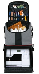 Tote Express Rolling Bag, 6922SA tote, rolling tote, two piece tote, scrapbooking tote, sewing machine tote,Tote Express Rolling Bag, 6922SA, crop bag, scrapbooking, sewing machine, super satchel series, wheeled, art bag, craft bag, black and gray,