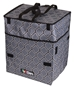 Rolling Tote, Lightweight Collapsible Craft Bag- Black and Gray, 6822AG - 6822AG