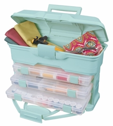Solutions™ Cabinet - Aqua, 6994AA Solutions? Cabinet - Aqua, 6994AA, craft box, creative options box, blue, sewing box, scrapbooking storage, jewelry box