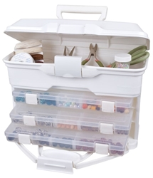 Solutions™ Cabinet - White, 6994AB Solutions Cabinet - Aqua, 6994AB, craft box, creative options box, blue, sewing box, scrapbooking storage, jewelry box